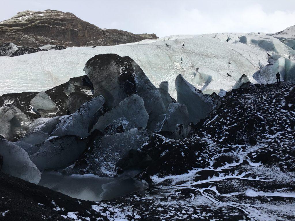 langue glacière Solheimajökull