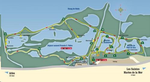 Plan de situation/accès au Parc Ornithologique de Pont-de-Gau